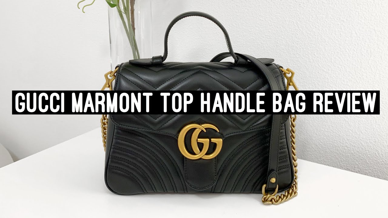 3bfa91e63 Gucci Marmont Top Handle Bag Review l Gricelduh - YouTube