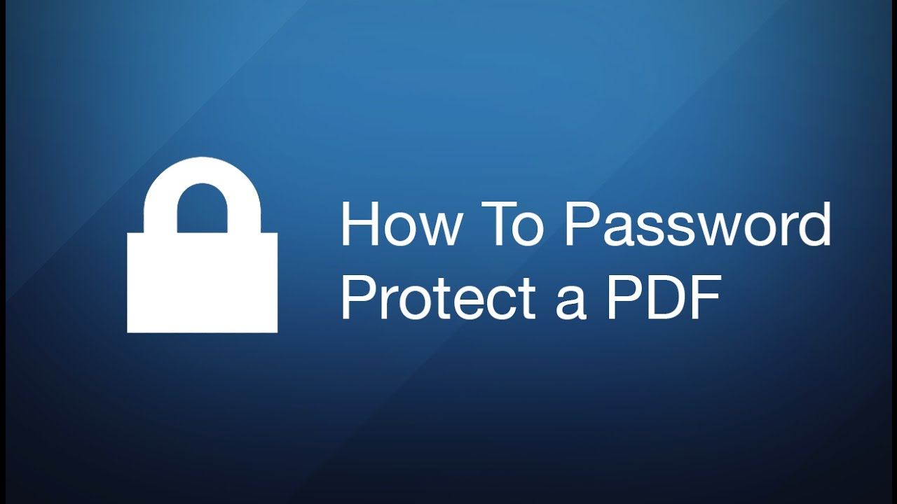 How to password protect a PDF? Add or remove a PDF password