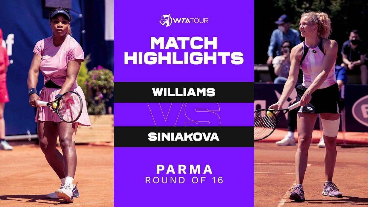 Download Serena Williams vs. Katerina Siniakova | 2021 Parma Round of 16 | WTA Match Highlights