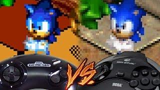 Sega Genesis Vs Sega Saturn - Sonic 3D Blast