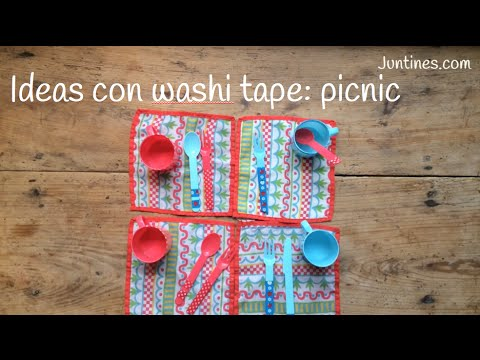 No te pierdas estas ideas para decorar con washi tape los utensilios para ir de picnic