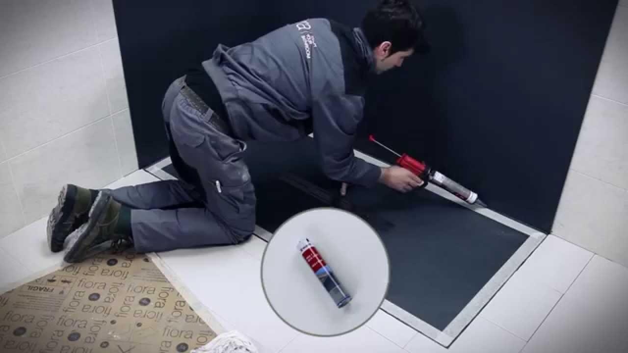 Istruzioni montaggio piatto Silex e pareti doccia Fiora - YouTube