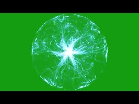 Plasma Energy on Green Screen Bacground