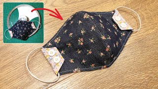 Making masks easy with pot pan lid cover 4 Face mask sewing tutorial Face mask DIY