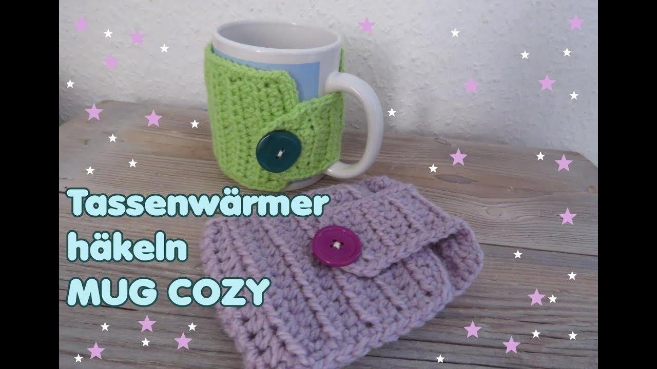 Einfachen Tassenwärmer Häkeln Mug Cozycup Cozy Youtube