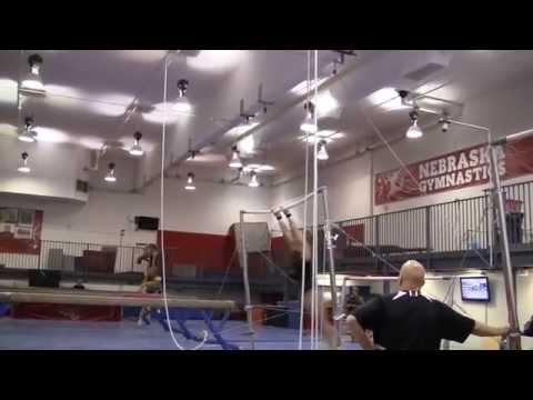 Nebraska Women's Gymnastics Training