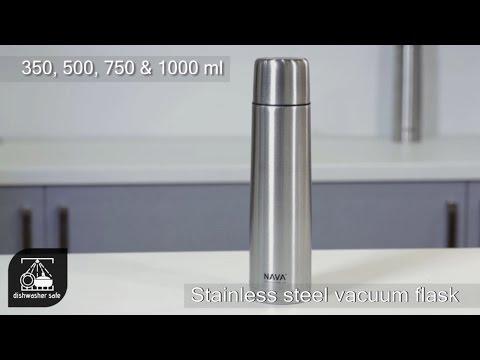 Nava Θερμός Ανοξείδωτο με Βαλβίδα και Καπάκι-Ποτήρι 0.5lt