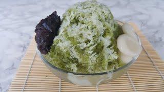 ♡Green tea shaved ice recipe♡ (Matcha kakigori/bingsu with homemade shiratama dango!)