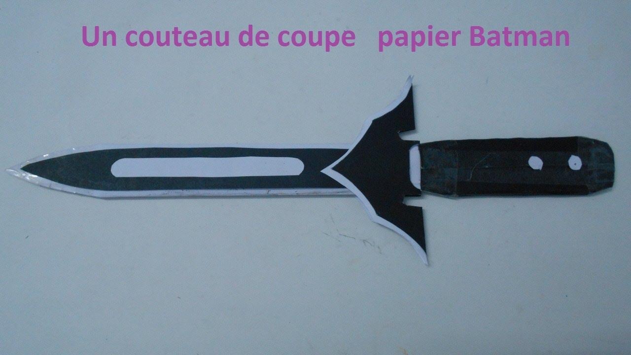 Comment faire un couteau de coupe papier batman 17 youtube - Comment bien aiguiser un couteau ...
