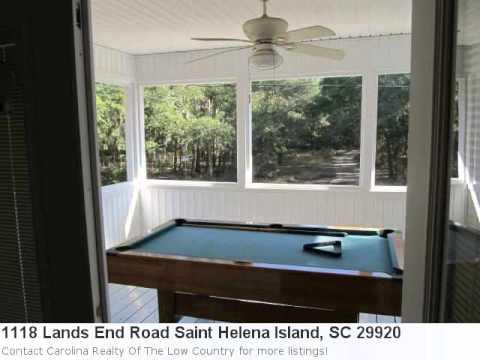 Real Estate Listing For Saint Helena Island, Sc- Meet Mls# 1