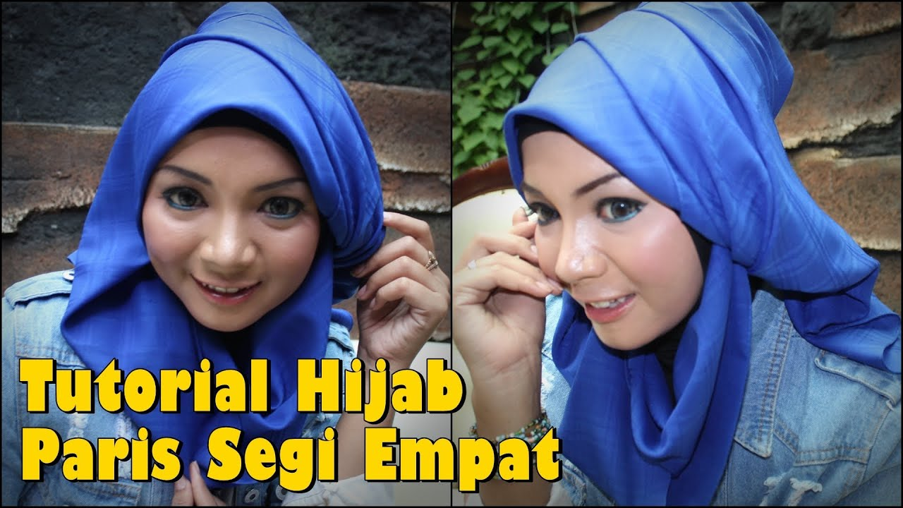 Hijab Modern Tutorial Hijab Paris Segi Empat Modern YouTube