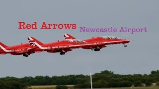 Red Arrows departure | Newcastle Airport 2015 | HD