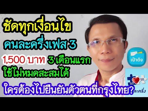 โฆษกคลังตอบชัด คนละครึ่งเฟส3 สะสมใช้ได้ ใครต้องไปยืนยันตัวตนที่กรุงไทยบ้าง?