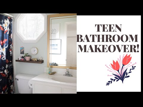 ULTIMATE TEEN BATHROOM MAKEOVER!! Budget Friendly & DO It YOURSELF!!