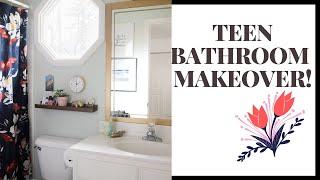 OMG!!!! The Ultimate TEEN BATHROOM MAKEOVER!! Budget Friendly & DIY!!
