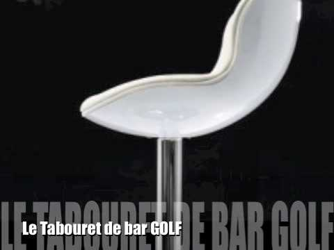 tabouret de bar golf youtube. Black Bedroom Furniture Sets. Home Design Ideas