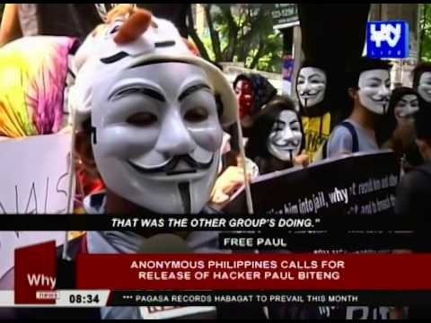 Anonymous Philippines calls for release of hacker Paul Biteng