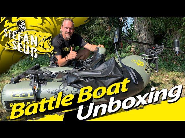 Mein neues Belly Boat | Black Cat Battle Boat mit Elektromotor und Fernbedienung für alle Angler
