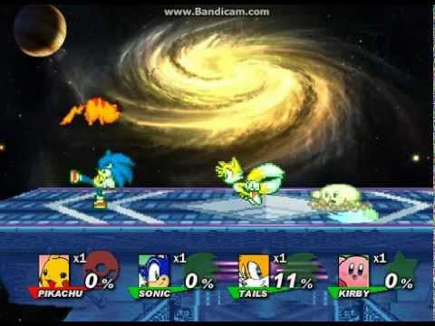 PIKACHU VS SONIC TAILS AND KIRBY - YouTube