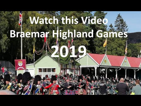 In the media, the Massed Pipes & Drums in Braemar at the start of the Highland Games 2019, from YouTube · Duration:  5 minutes 10 seconds