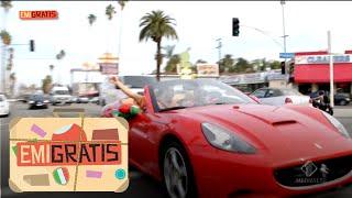 Emigratis - Pio e Amedeo girano per Los Angeles in ferrari