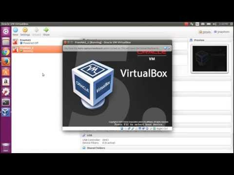 Installing FreeNAS for NAS Storage on VIrtualBox