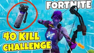 40 KILL CHALLENGE IN FORTNITE * NEW GRENADE * THIS YEAR'S FATTEST SKINS