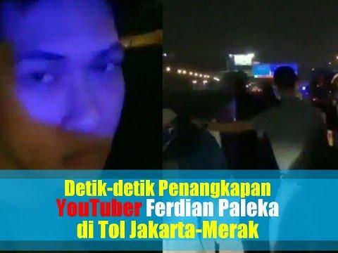 Detik-detik Penangkapan YouTuber Ferdian Paleka Di Tol Jakarta-Merak