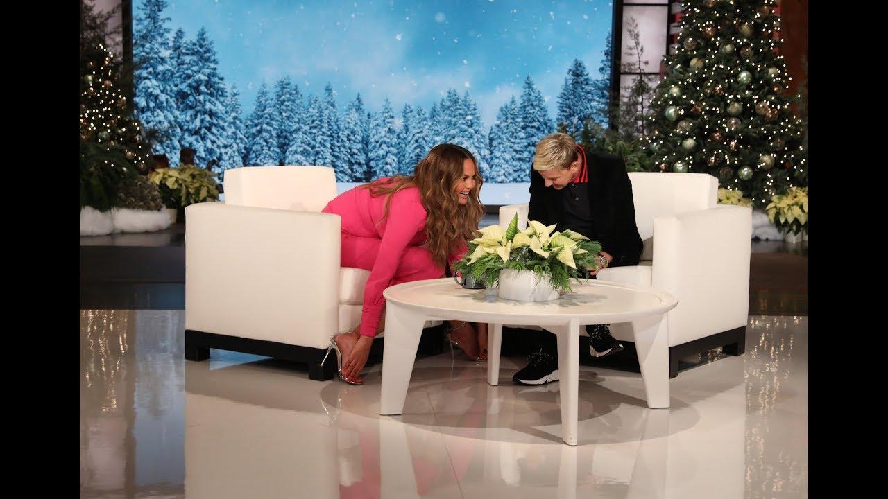 Криси Тајген си ги мрази стапалата и ги крие од сите камери на Елен