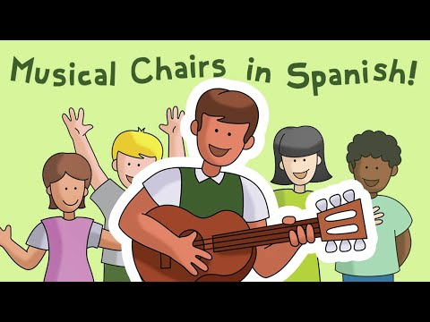 Musical Chairs with Mi guitarrí - Calico Spanish Songs for Kids