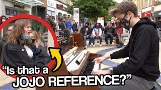 I played JOJO openings on piano in public