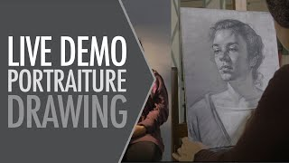 Time-lapse Portrait Drawing Demonstration by instructor of the FCAA 2020