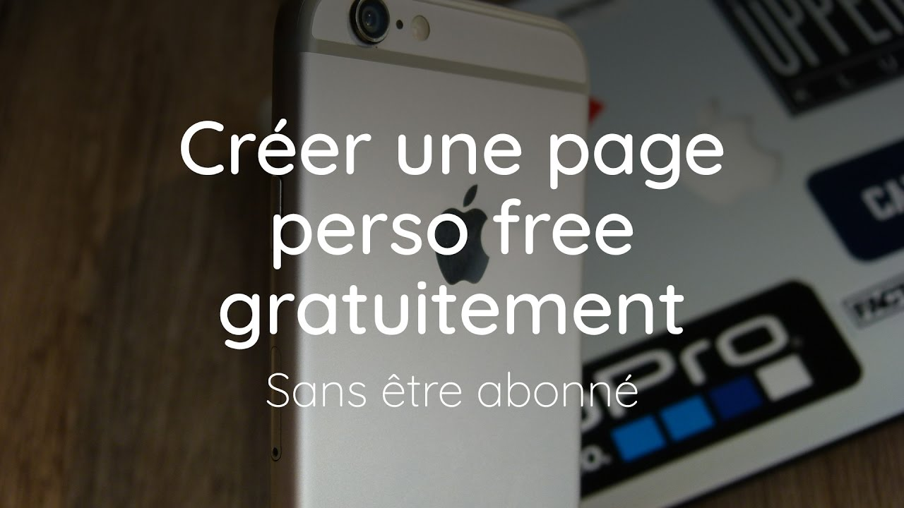 creer une page perso sur free