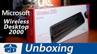 Microsoft Wireless Desktop 2000 - Unboxing en Español
