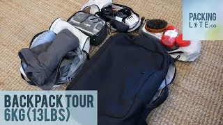 [October 2017] Travelling Light 6kg 13lbs Backpack Tour with Laptop + Camera
