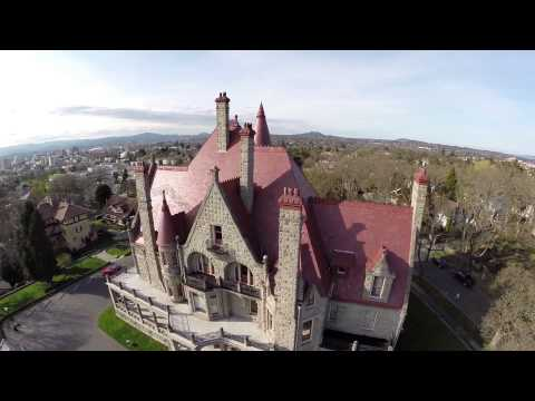 Craigdarroch Castle Aerial Flyover