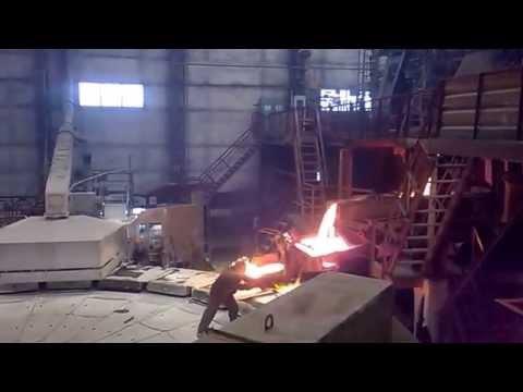 Разливка анодной меди, огневое рафинирование, металлургия.