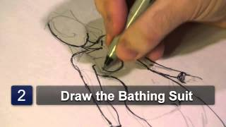 How to Draw a Bathing Suit