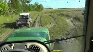 Lettland: Fendt 936 vs. Landrover Defender im feuchten Gelände *uncut*