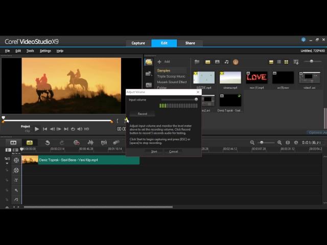 Corel video studio karaoke yapma, videoya kendi sesimizi ekleme, Video düzenleme program?
