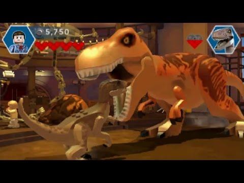 LEGO Jurassic World (3DS/Vita) - 100% Guide - Jurassic Park (Stages 1-9)
