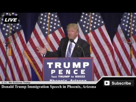 Donald Trump Immigration Speech in Phoenix, Arizona [ AMAZING SPEECH ]