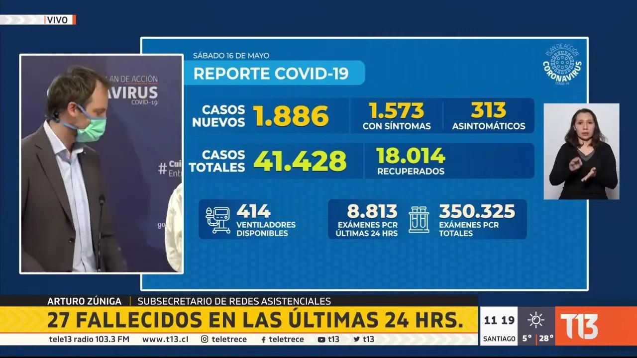 Coronavirus en Chile: balance oficial 16 de mayo