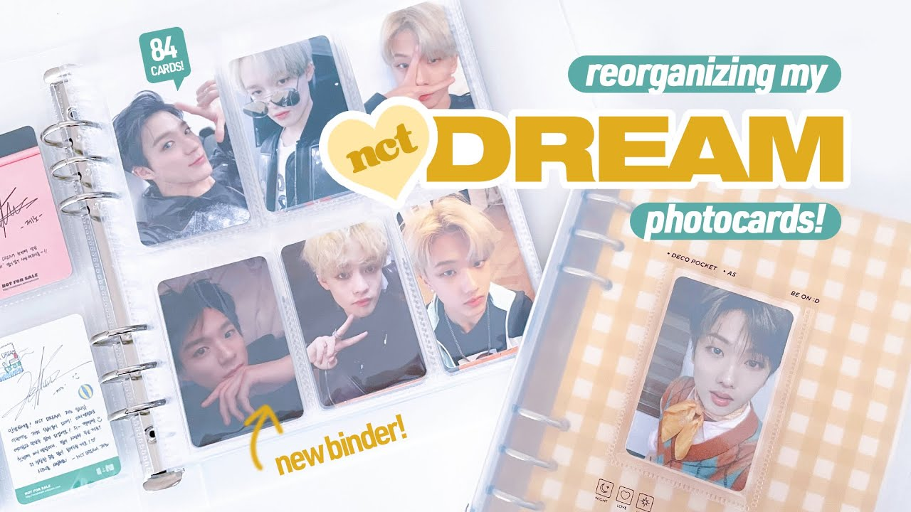 Reorganizing My NCT Dream Photocard Collection ☆ Be On D A5 6-Pocket Binder