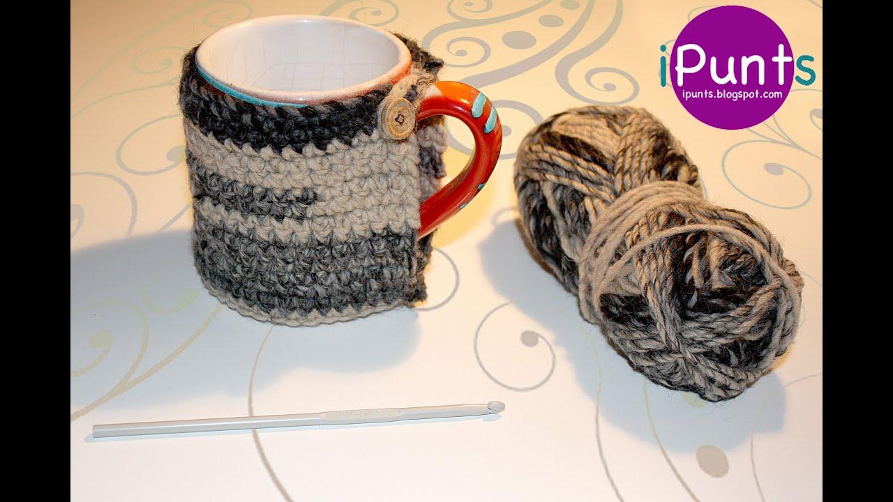 Tutorial patrón Cubretazas HotCup (crochet) paso a paso - YouTube