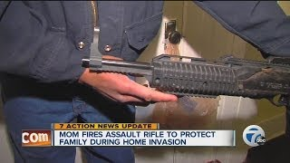 Mom fires assault rifle to protect family during home invasion