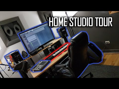 Home Studio Tour | Music Setup & Video Game Collection [2016] - @SeriousBeats