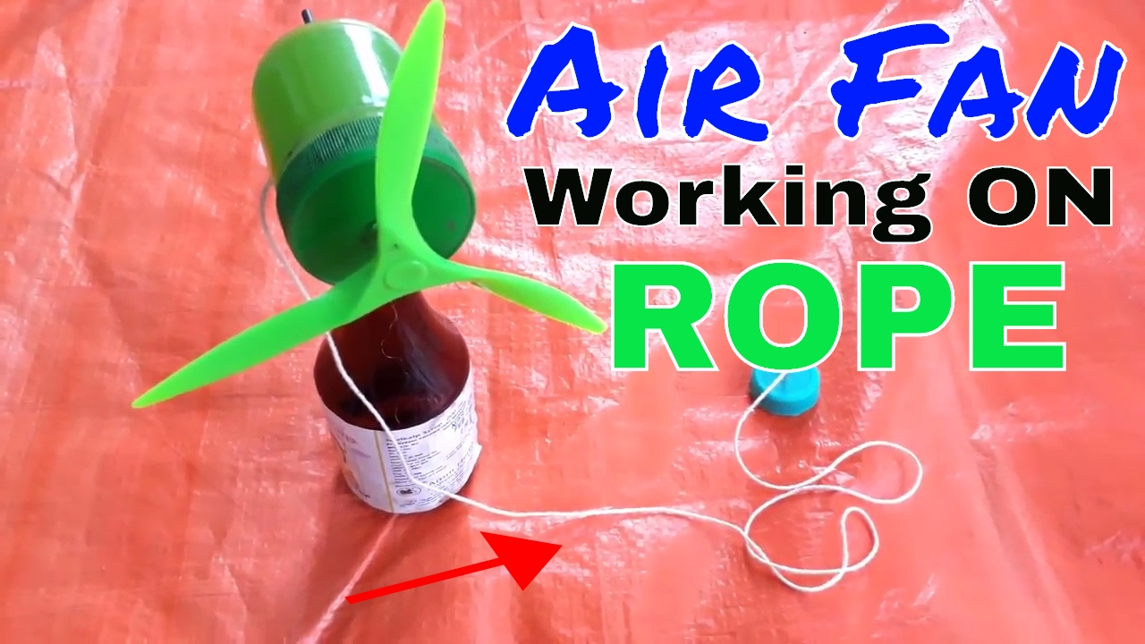 How To Make A Rope Fan Air Fan Without Motor Air Fan Rope Air Fan Air Cooler