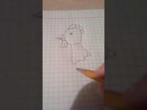 Как нарисовать петуха очень легко для начинающих