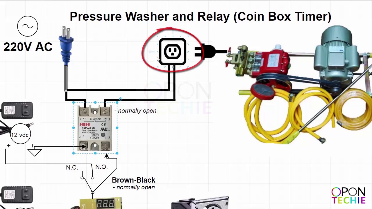 Car wash Pressure Washer and Relay Connection pressure washer and relay  connection diagram - YouTubeYouTube